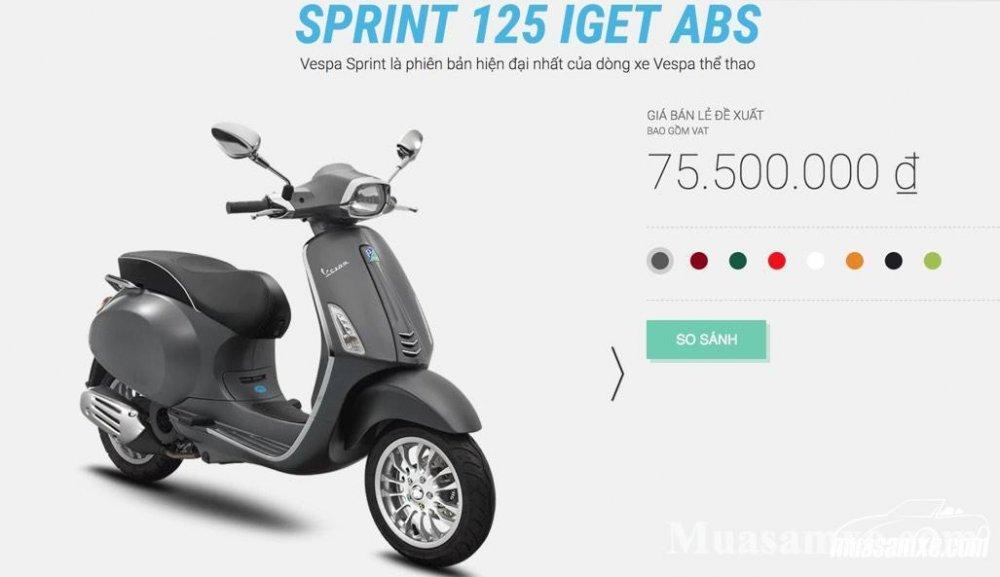 Chi tiết đánh giá xe vespa sprint 2019 hot nhất