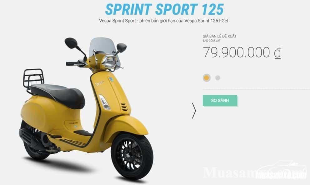 Mua xe vespa sprint abs 2019 có nên không? Mua màu gì hợp phong thủy
