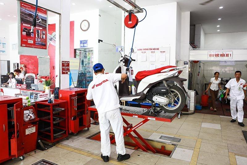 Quy trình bảo dưỡng xe máy