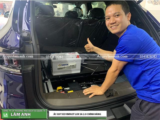 Thay bình ắc quy xe Vinfast SA 2.0 chính hãng tại Hải Phòng