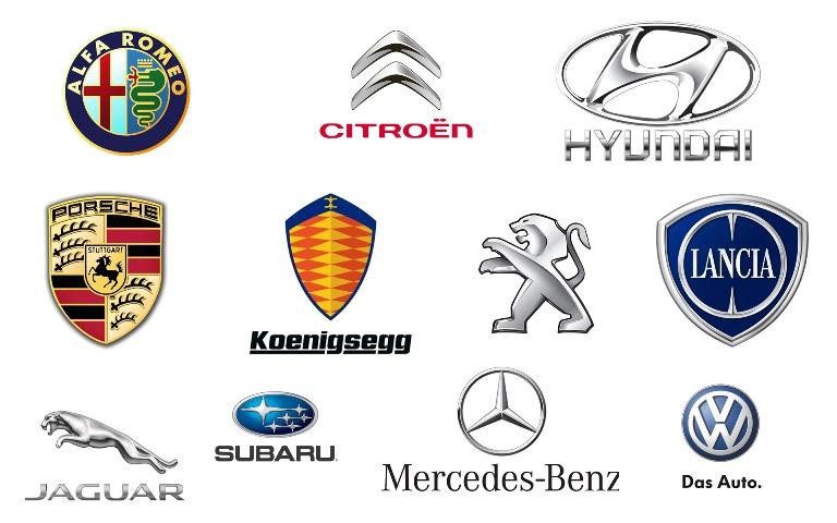 Các hãng xe hơi nổi tiếng - chưa có tên Việt Nam